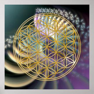 Flower Of Life | gold, soft energy Poster