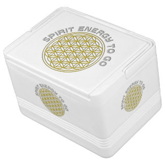 Flower Of Life gold - Spirit Enery to go Igloo Drink Cooler