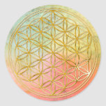 FLOWER OF LIFE - gold Stickers