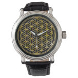 Flower of Life - gold Wrist Watch