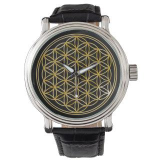 Flower of Life - gold Wrist Watch