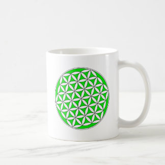 Flower of Life Gray Green Coffee Mug
