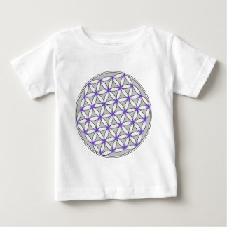 Flower of Life Gray Lilac Baby T-Shirt