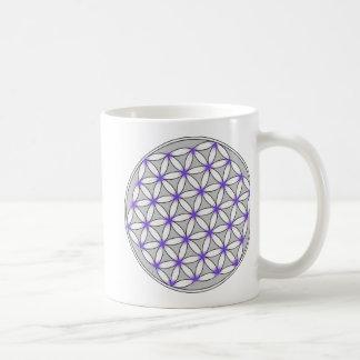 Flower of Life Gray Lilac Mug