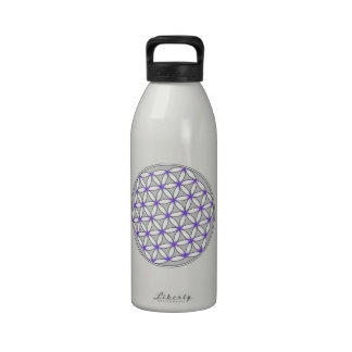Flower of Life Gray Lilac Drinking Bottles