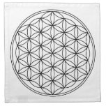 Flower of Life Grid Cloths (4)<br><div class='desc'>Made of 100% grade A woven white cotton,  machine washable,  includes set of 4,  Sewn in the USA</div>
