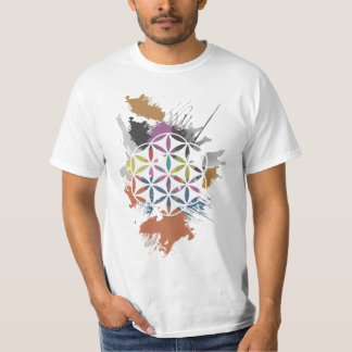 Flower of Life Grunge Painting T-Shirt