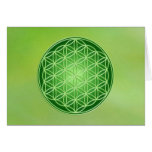 Flower of Life - Heart Chakra Greeting Card