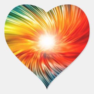Flower of Life Heart Sticker