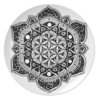 Flower of Life II Dinner Plate