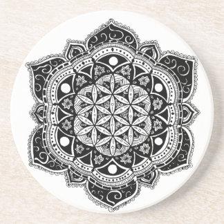 Flower of Life II Sandstone Coaster
