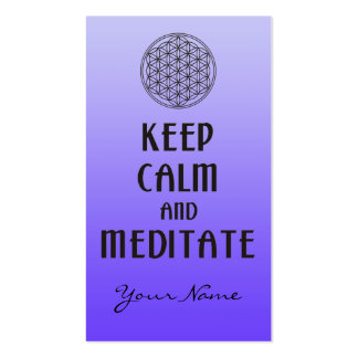 Flower of Life - KEEP CALM and MEDITATE Business Card Template