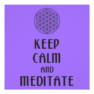 Flower of Life - KEEP CALM and MEDITATE Card