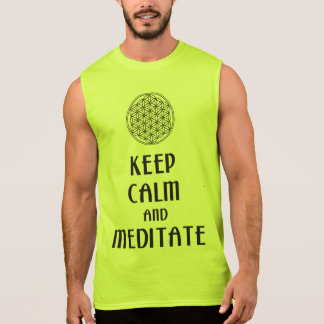 Flower of Life - KEEP CALM and MEDITATE Sleeveless Shirts