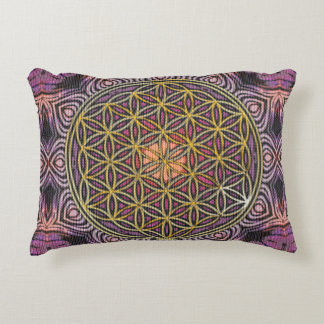 Flower Of Life - knitting seamless pattern V Decorative Pillow