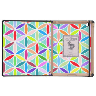 Flower of Life Large Pattern – Multicoloured Covers For iPad