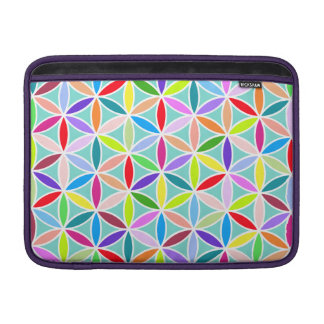 Flower of Life Large Pattern – Multicoloured Sleeve For MacBook Air