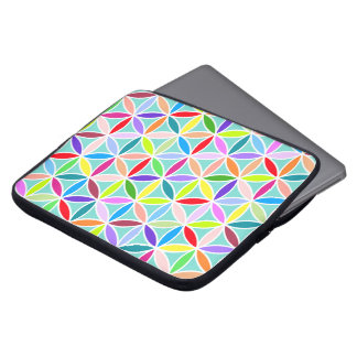 Flower of Life Large Pattern – Multicoloured Laptop Computer Sleeve