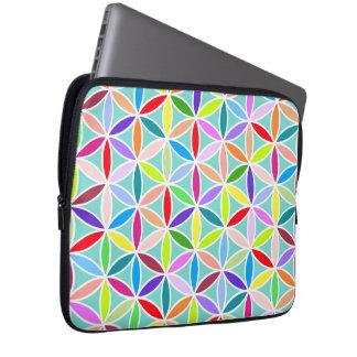 Flower of Life Large Pattern – Multicoloured Laptop Sleeves