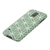 Flower of Life Large Pattern White on Green Galaxy S5 Cover