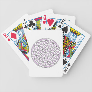 Flower of Life Lilac Bicycle Playing Cards
