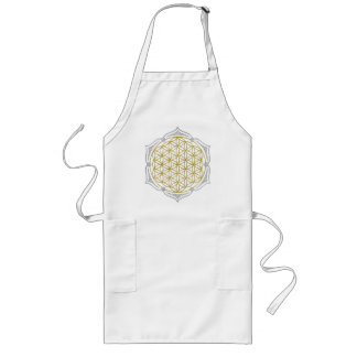 Flower Of Life - Lotus gold silver Long Apron