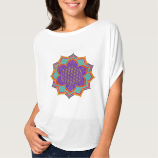 Flower of Life - LOTUS ornaments gold I Tee Shirt