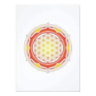 Flower of life, Lotus, Sacred Geometry, Buddhism Card