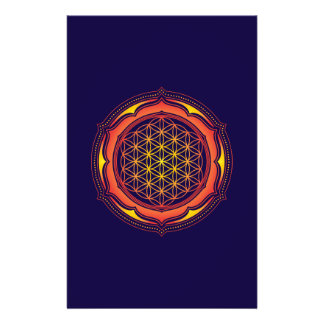 Flower of life, Lotus, Sacred Geometry, Buddhism Flyer