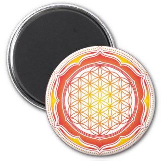 Flower of life, Lotus, Sacred Geometry, Buddhism Magnet