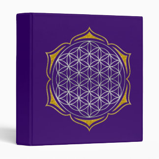 Flower Of Life - Lotus silver gold Binder