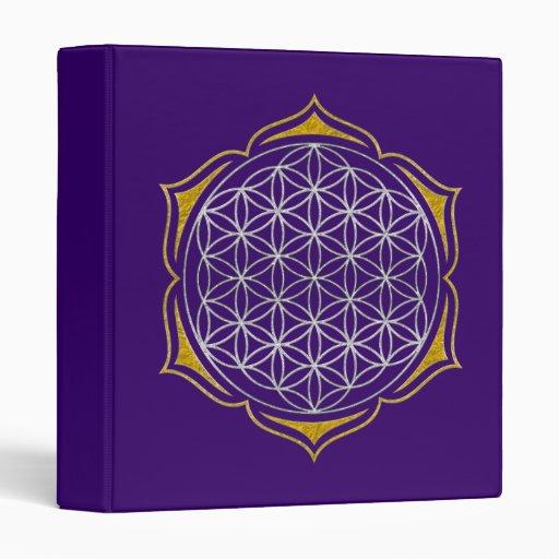 Flower Of Life - Lotus silver gold Binder