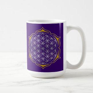 Flower Of Life - Lotus silver gold Coffee Mug