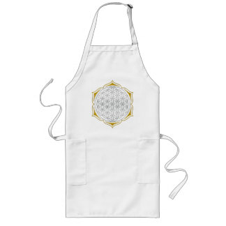 Flower Of Life - Lotus silver gold Long Apron