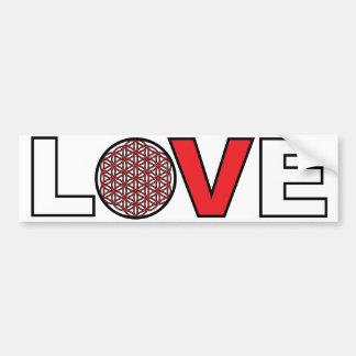 Flower of Life Love bumper sticker Car Bumper Sticker