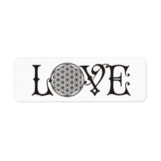 Flower Of Life - LOVE lettering tattoo black Label