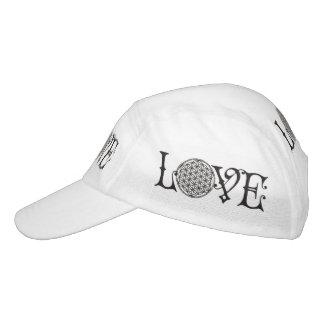 Flower Of Life - LOVE lettering tattoo black Headsweats Hat