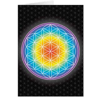 FLOWER OF LIFE - LUMINENCE CARD