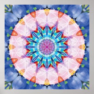 Flower of Life Mandala 12 Poster