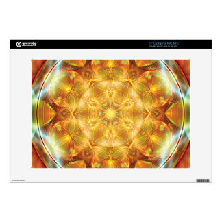 "Flower of Life Mandala 16 Gifts 15"" Laptop Decal"