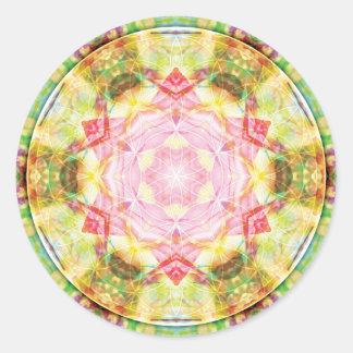 Flower of Life Mandala 17 Cards Classic Round Sticker