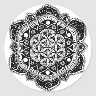 Flower of life Mandala Classic Round Sticker