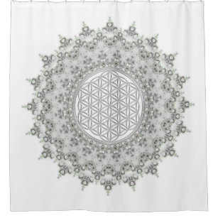 Flower Of Life Shower Curtains