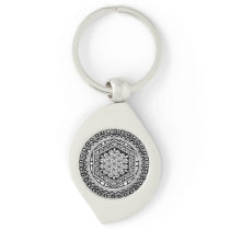 Flower of life mandala keychain