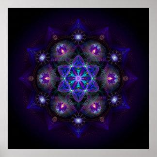 Flower Of Life Mandala Poster