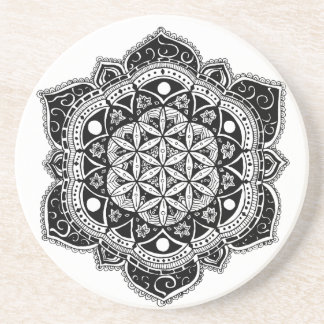 Flower of Life Mandala Sandstone Coaster