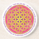 Flower Of Life / Moola Mantra Beverage Coasters