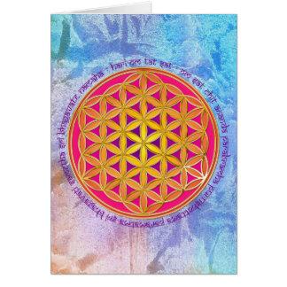 Flower Of Life / Moola Mantra Card