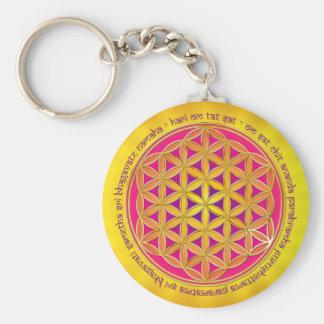 Flower Of Life / Moola Mantra Keychain