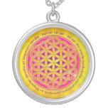 Flower Of Life / Moola Mantra Round Pendant Necklace